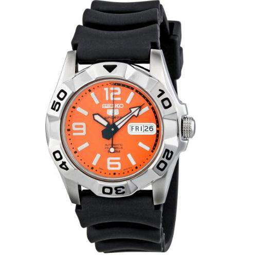 SEIKO SNZH97K1 Automatic Black Rubber Watch for Men