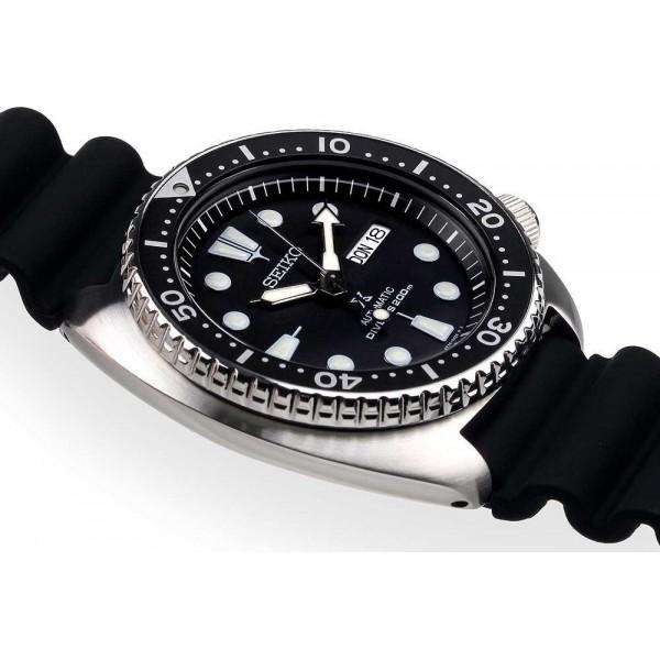 SEIKO SRP777K1 Automatic Turtle Black Rubber Sport Watch for Men