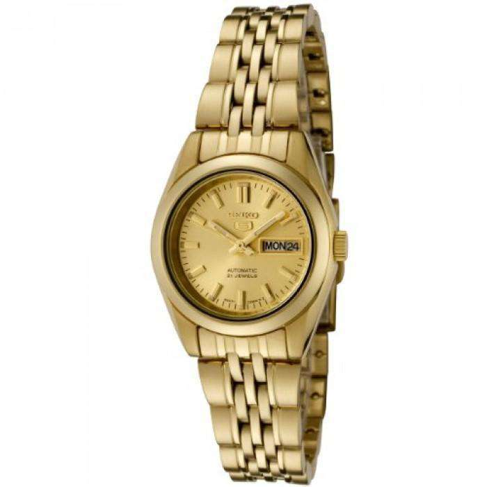 SEIKO SYMA38K1 Automatic Gold Plated Stainless Steel Watch for Women