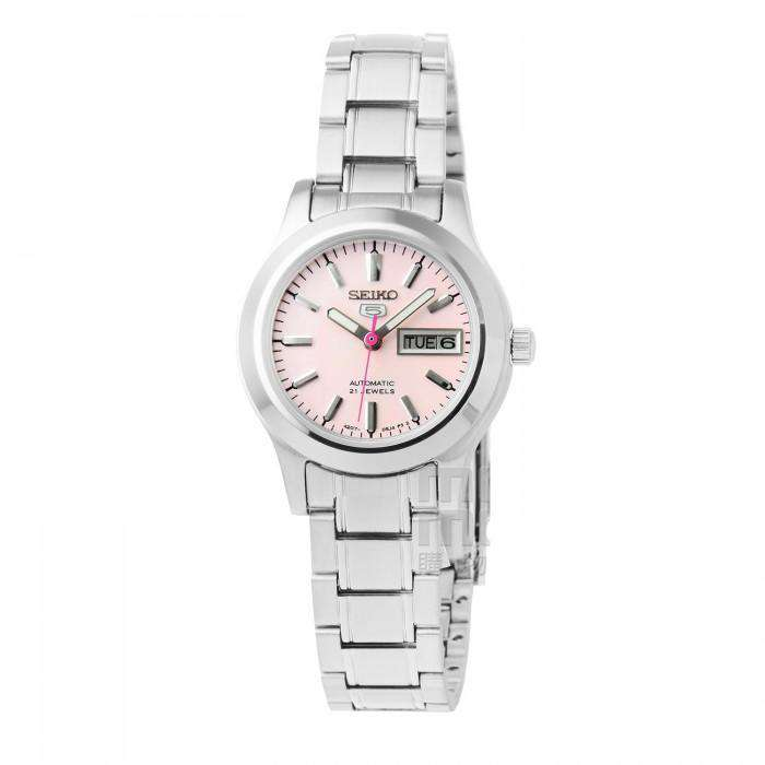 SEIKO SYMD91K1 Automatic Silver Stainless Steel Pink Dial Watch for Women