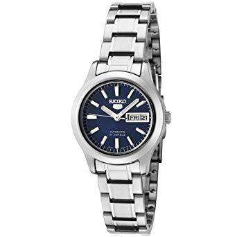 SEIKO SYMD93K1 Automatic Silver Stainless Steel (Blue Dial) Watch for Women