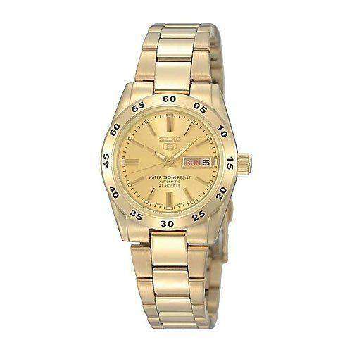 SEIKO SYMG44K1 Automatic Gold Stainless Steel Watch for Women