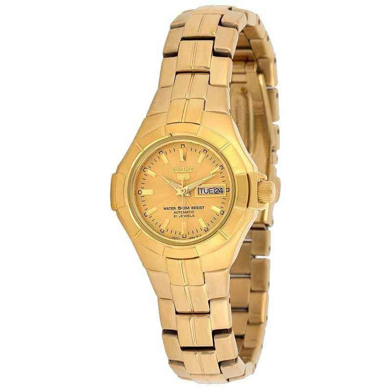 SEIKO SYMG88K1 Automatic Gold Stainless Steel Watch for Women