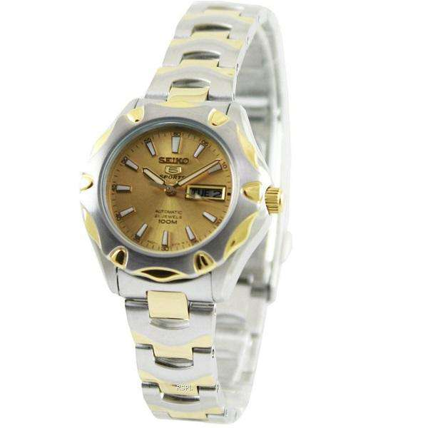 SEIKO SYMJ46K1 Automatic Two-Tone Stainless Steel Watch for Women