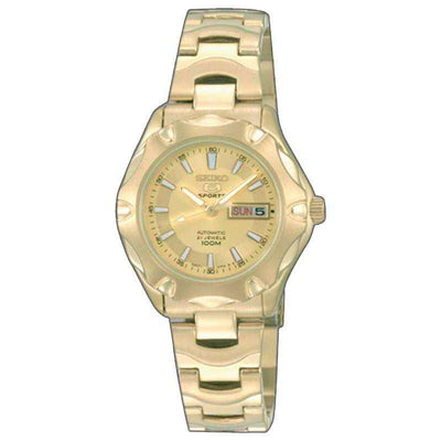 SEIKO SYMJ50K1 Automatic Gold Stainless Steel Watch for Women