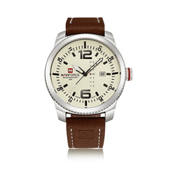 Naviforce NF9063-SBBN Leather Strap Mens Watch