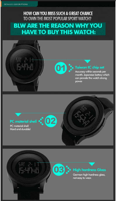 SKMEI DG1142 Black Silicon Strap Watch for Men and Women