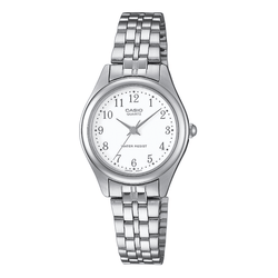 Casio Standard LTP-1129A-7BRDF Silver Stainless Steel Strap Watch for Women