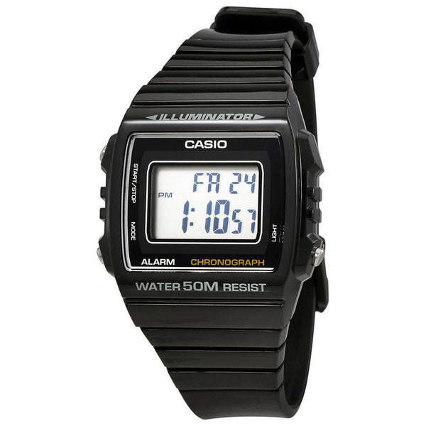 Casio W-215H-1A Black Resin Watch for Men and Women