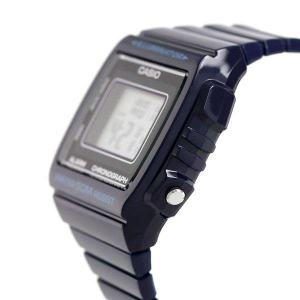 Casio W-215H-2A Navy Blue Resin Strap Watch For Men and Women