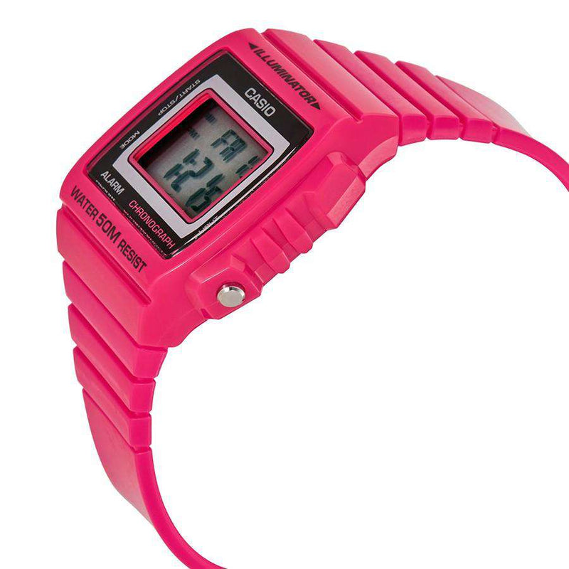 Casio W-215H-4A Pink Resin Watch For Men and Women