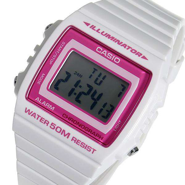 Casio W-215H-7A2 White Resin Strap Watch for Men and Women