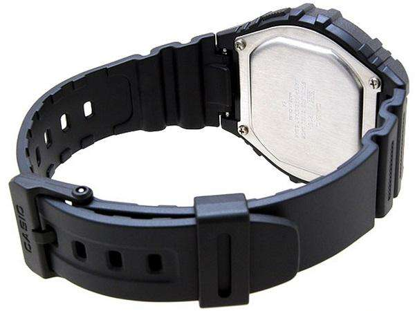 Casio Standard W-216H-1B Black Resin Strap Watch for Men and Women