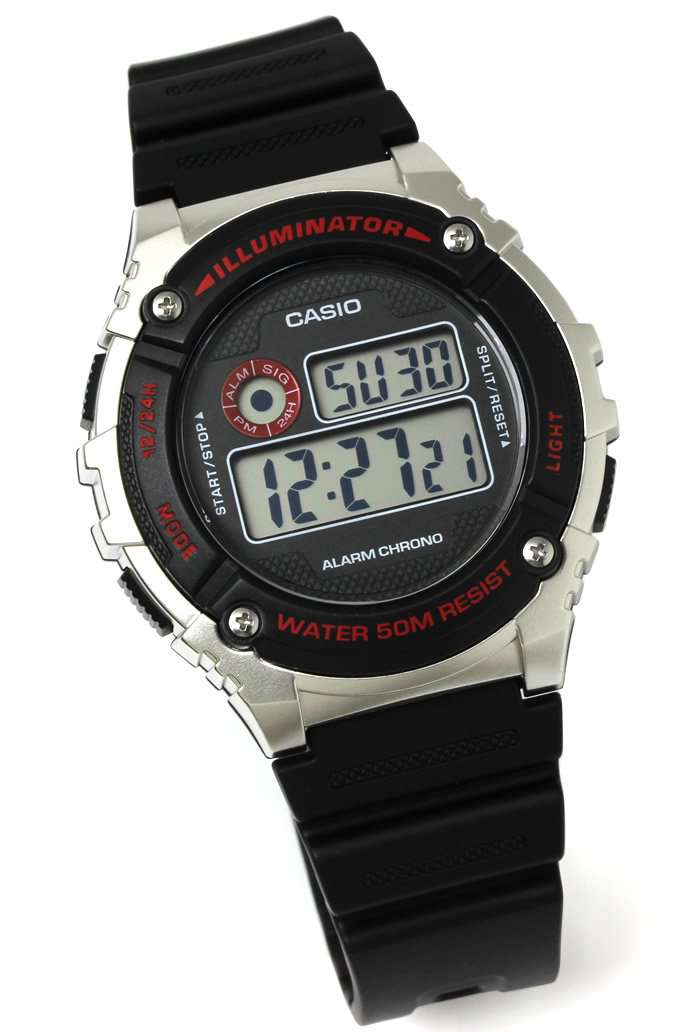 Casio W-216H-1C BLACK Digital Watch for Men