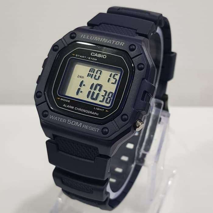 Casio W-218H-2A Blue Resin Watch for Men
