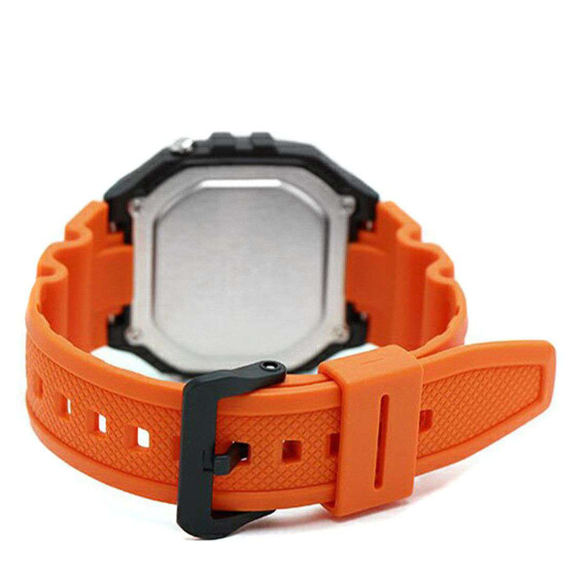Casio W-218H-4B2 Orange Resin Watch for Men