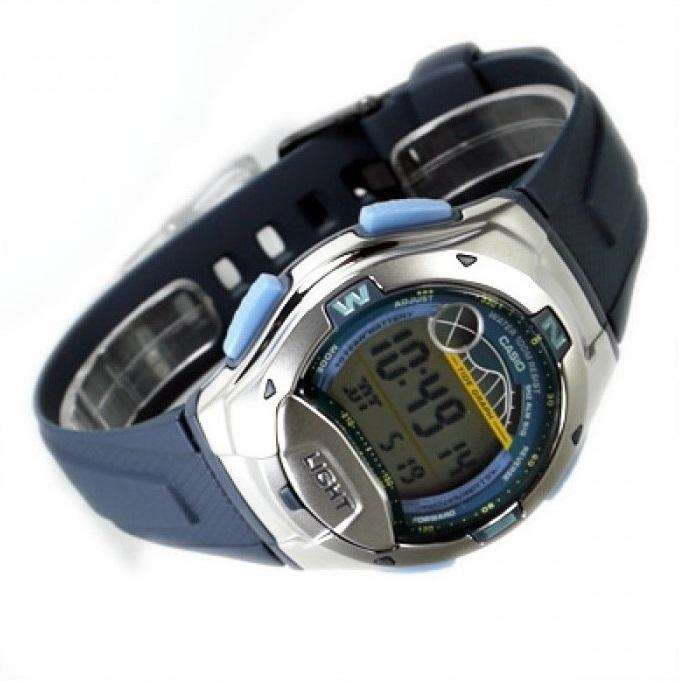 Casio Standard W-753-2AV Blue/Silver Resin Strap Watch for Men