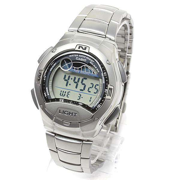 Casio W-753D-1AVDF Silver Stainless Watch for Men