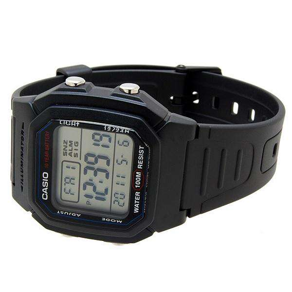 Casio W-800H-1AVDF Black Resin Strap Watch for Men