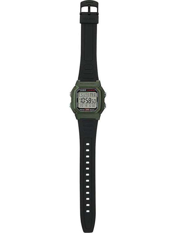 Casio W-800HM-3AVDF Black Resin Watch for Men and Women
