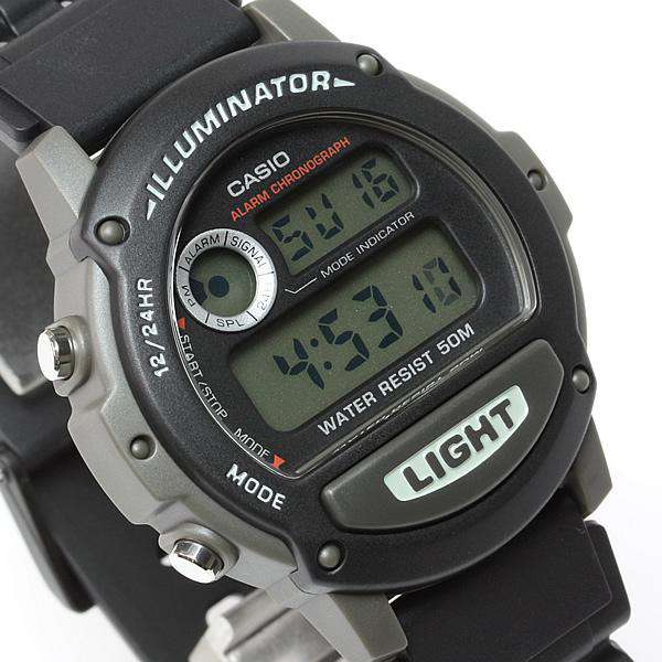 Casio W-87H-1VHDR Black Resin Watch for Men and Women