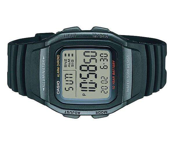 Casio W-96H-1BVDF Black Resin Watch for Men and Women