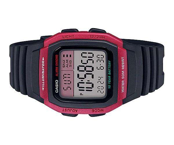 Casio W-96H-4AVDF Black Resin Watch for Men and Women