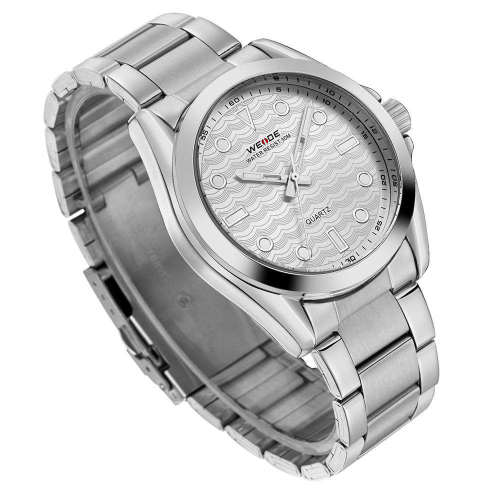 Weide WH802-2C-SILVER DIAL Silver Stainless Steel Watch for Men-