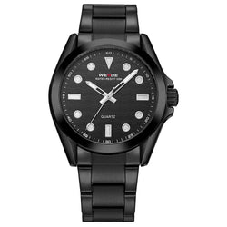 Weide WH802B-1C-BLACK DIAL Black Stainless Steel Watch for Men -