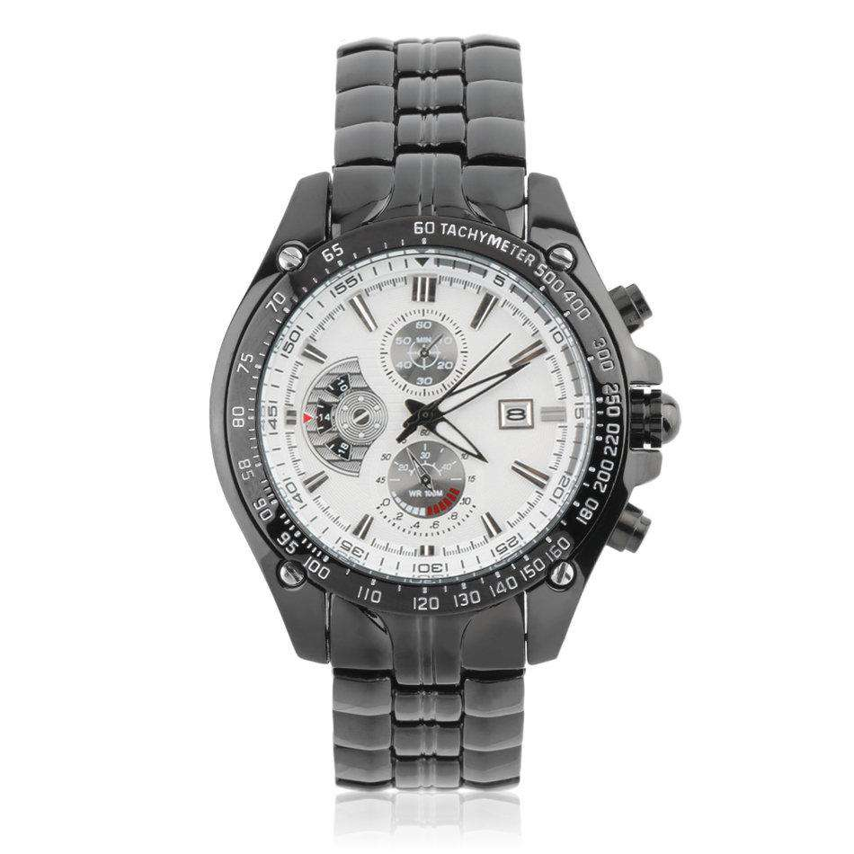 Curren 8083D-1-Black/Silver Stainless Steel Watch