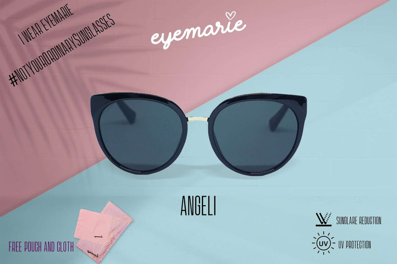 EyeMarie Angeli-Black UV400 Protection Sunglass for Women
