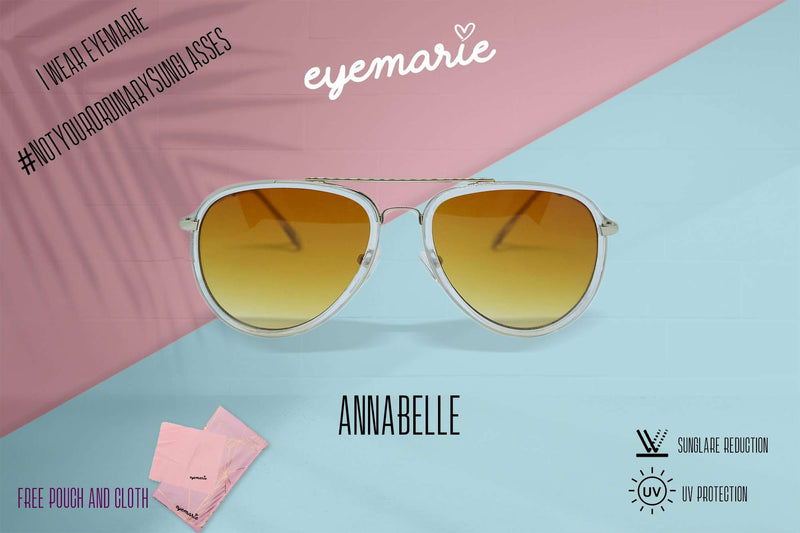 EyeMarie Annabelle-Orange UV400 Protection Sunglass for Women