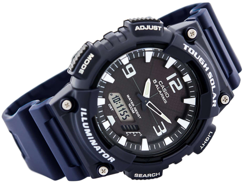 Casio AQ-S810W-2A2 Navy Blue Solar Powered Watch for Men