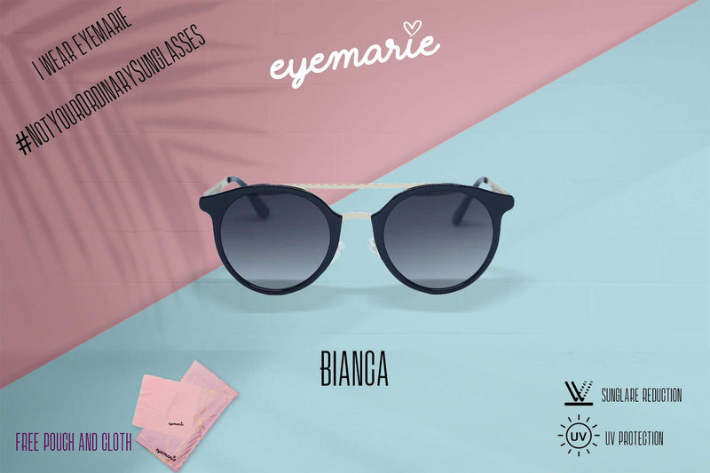 EyeMarie Bianca-Black UV400 Protection Sunglass for Women
