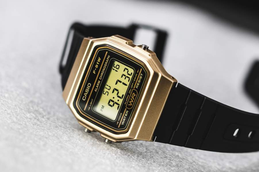 Casio Vintage F-91WM-9A Black Resin Strap Watch For Men and Women