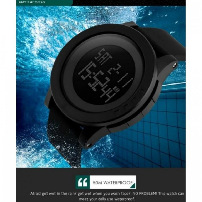SKMEI DG1142 Black Silicon Strap Watch for Men and Women - Watchportal Philippines