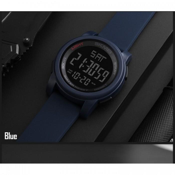 SKMEI 1257 Blue Silicon Strap Watch for Men and Women - Watchportal Philippines