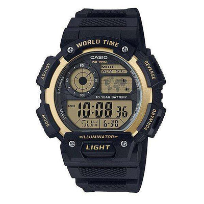 Casio AE-1400WH-9AVDF Black Resin Watch for Men