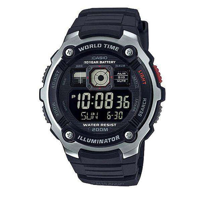 Casio AE-2000W-1B Black Resin Watch for Men