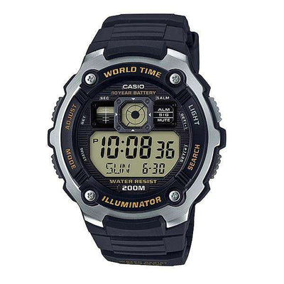Casio AE-2000W-9A Black Resin Watch for Men