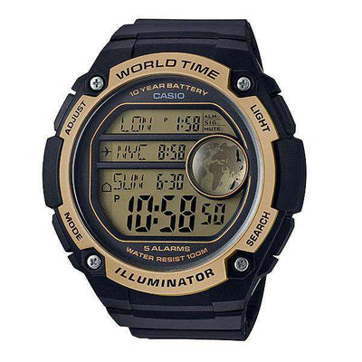 Casio AE-3000W-9AVDF Black Resin Watch for Men