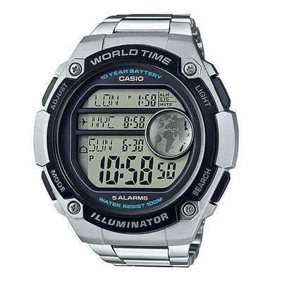 Casio AE-3000WD-1AVDF Silver Stainless Watch for Men