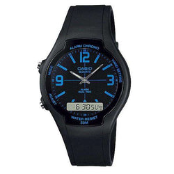Casio AW-90H-2BVDF Black Resin Watch for Men and Women