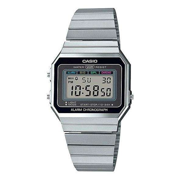 Casio A700W-1A Silver Stainless Watch for Men and Women