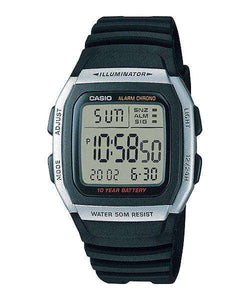 Casio W-96H-1AVDF  Black Resin Watch for Men and Women