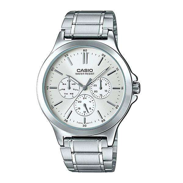 Casio MTP-V300D-7A Silver Stainless Watch for Men