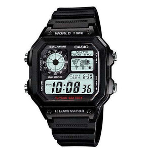 Casio AE-1200WH-1AVDF Black Resin Watch for Men