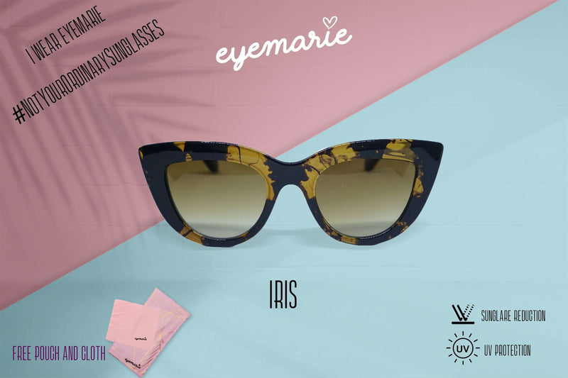 EyeMarie Iris-DemiBrown UV400 Protection Sunglass for Women