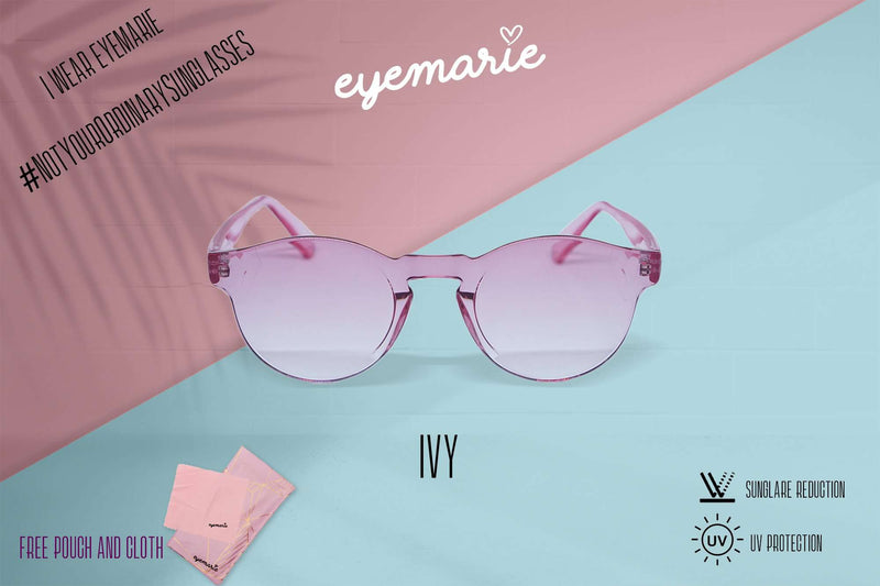 EyeMarie Ivy-Pink UV400 Protection Sunglass for Women