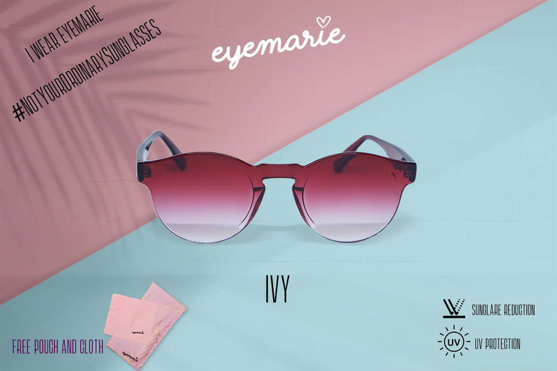 EyeMarie Ivy-Red UV400 Protection Sunglass for Women